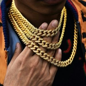 Other - 24 inch Cuban Chain Necklaces Iced Out Miami Cuban